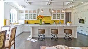 beachy bedrooms yellow kitchen with backsplash peel and stick