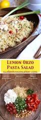 Pasta Salad Ingredients Lemon Orzo Pasta Salad Suebee Homemaker