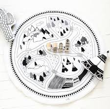 playful home decor kids rooms car play mat modern rug on handmade