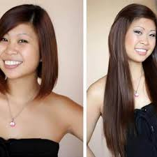 hair extensions for short hair before and after hair extensions before after images medium and short hair