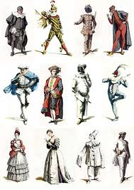 commedia dell u0027arte character illustrations by maurice sand who