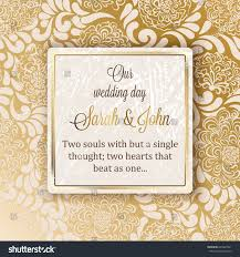 Exclusive Wedding Invitation Cards Intricate Baroque Luxury Wedding Invitation Card Stock Vector
