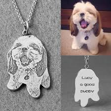 get name necklace custom pet silhouette engraved necklace