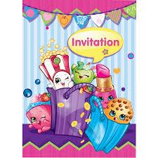 Card Factory Party Invitations Shopkins Invitations 8ct Walmart Com