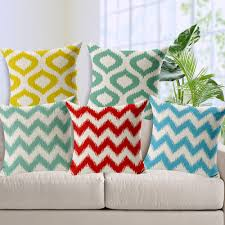 home decor free shipping free shipping colorful chevron water wave home decor cushion