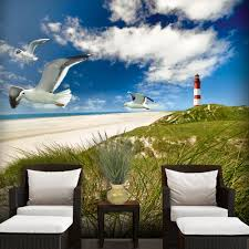 wall stickers uk wall art stickers kitchen wall stickers wm19006 walplus lighthouse in the dunes wall mural 300cm x 280cm