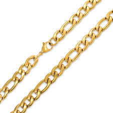 figaro chain necklace images Mens 11mm heavy figaro chain stainless steel necklace jpg