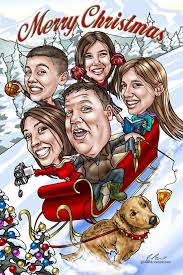 1 in custom caricatures from photos