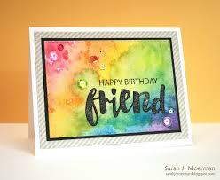 my impressions happy birthday friend card u0026 simon says stamp june