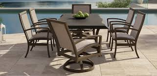 Stone Top Patio Table by Napoli Collection Castelle Luxury Outdoor Furniture