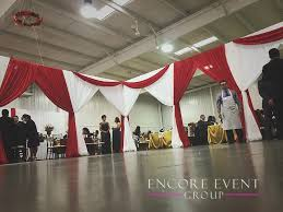 barry expo center hastings mi red draping encore event group
