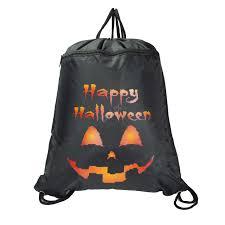 halloween pumpkin bag dalix original drawstring backpack tote sock sack pack bag dual