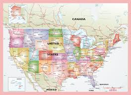 map usa pdf political vector map united states in map of usa with cities pdf