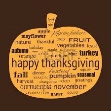 Free Happy Thanksgiving Image Happy Thanksgiving Word Collage In Shape Of Pumpkin Royalty Free