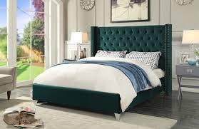 Meridian Bedroom Furniture by Aiden Green Queen Size Bed Aiden Meridian Furniture Modern