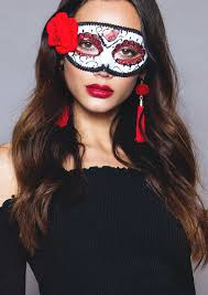 harper white halloween masquerade eye mask missy empire