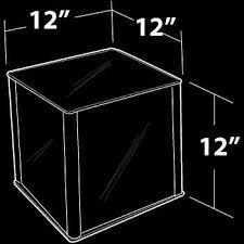 mirror acrylic cube pedestal 12