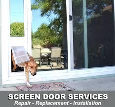 Patio Screen Door Repair Screen Door Repair Patio Screen Door Repair Replacement Installers