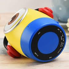 multi color cute despicable me minions strap portable wireless