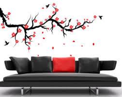 headboard wall art wall art designs stick on wall art cherry blossom wall decal branch