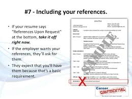refrences on resume 10 deadly resume mistakes to avoid at all costs