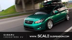 subaru outback lowered subaru crosstrek xv scale innovative series suspension youtube