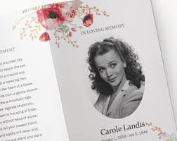 Images Of Funeral Programs Funeral Program Etsy