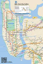 Manhattan Street Map The Best Coffee Shop Near Every New York City Subway Stop Map