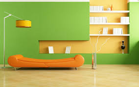 room wall color light green with light orange home combo