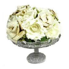 Paper Rose Topiary - hire vintage paper rose centerpiece hire for weddings and wedding