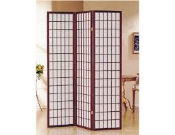 Panel Shoji Screen Room Divider - 3 part cherry finish panel shoji screen room divider