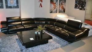 Leather Sectional Sofa With Chaise Furniture Black Sectional Leather Sofa Stunning Leather Sofa