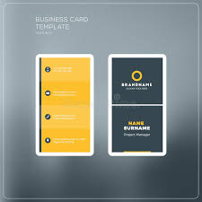 vertical business card print template personal business card wi