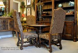 Tuscan Style Dining Room Furniture by Old World Dining Room Chairs 8265