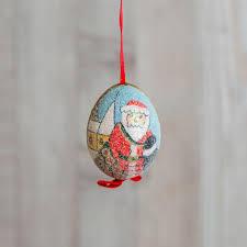 santa painted egg ornament k colette