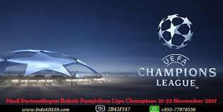 Jadwal Liga Chion Hasil Pertandingan Babak Penyisihan Liga Chions 21 22 November