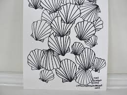 seashell scallop shell coloring page digital pdf downloadable
