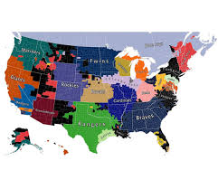Canada And Usa Map by A Map Of The United Countries Of Baseball Big Think Major League