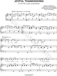 joseph martin joyful thanksgiving satb choir piano choral sheet