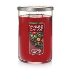 apple wreath candles yankee candle