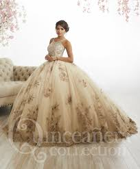 gold quince dresses floral appliqued quinceanera dress by house of wu 26884 abc fashion