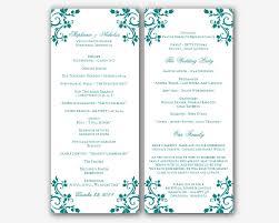 wedding program layout template free wedding program templates word 2014freerun5