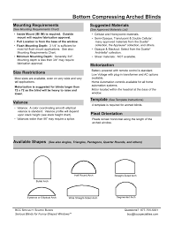 bcc specialties arched blind specifications
