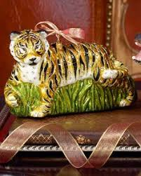 strongwater tiger with ornament swarovski
