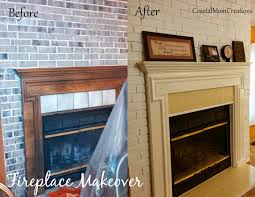coastal mom creations fireplace makeover with only paint