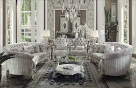 acme versailles living room ivory bone collection 52105