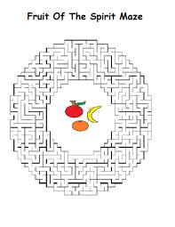 fruit of the spirit maze jpg 816 1 056 pixels printables pinterest