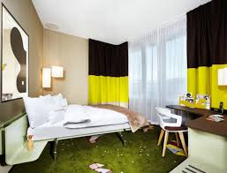 Black And Green Curtains Remarkable Interesting Colorful Hotel Design With The Charming