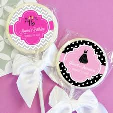 quinceanera favors personalized lollipop sweet 15 or quinceanera favors