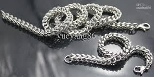 titanium mens jewelry necklace images 2018 men 39 s favour jewelry set titanium steel silver handicraft jpg